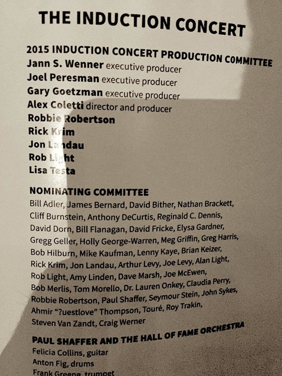 Rock Hall 2015 Nominating Committee
